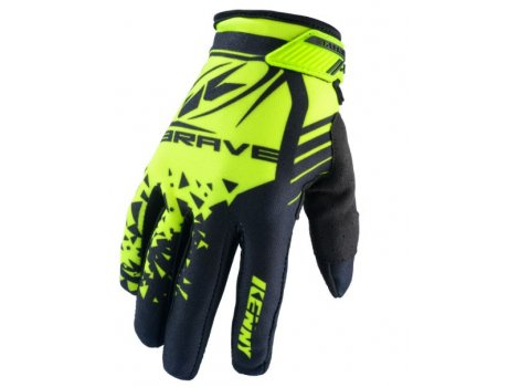 Gants VTT Kenny Brave Neon Yellow Black Jaune/Noir - 2020
