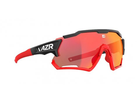 Lunettes vélo AZR Tack4 RX Noir/Rouge écran multicouche Miroir