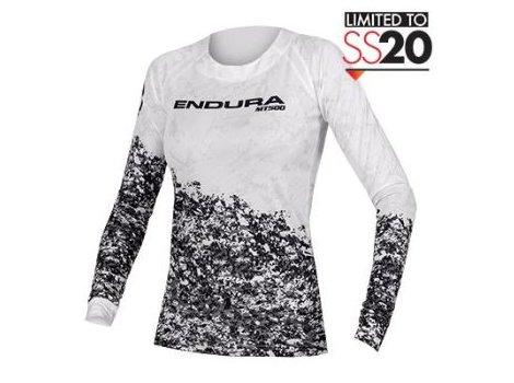 Maillot Enduro pour femme Endura Marble LTD Blanc
