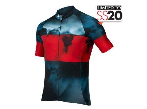 Maillot vélo Endura Nuages Bleu/rouge LTD