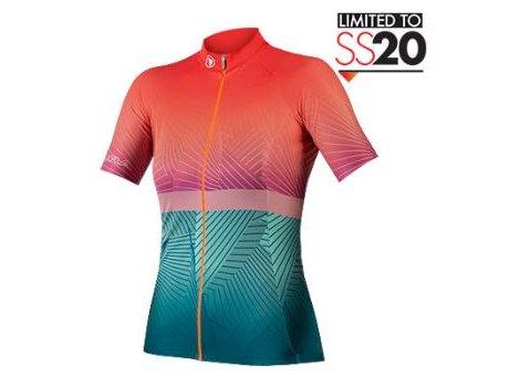 Maillot vélo femme Endura Lignes Corail/bleu LTD