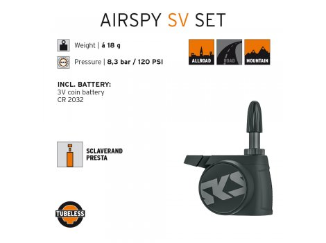 Capteur de pression pneu SKS Airspy 11611 - Presta
