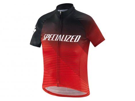 Maillot vélo Specialized Enfant RBX Noir/Rouge Logo Team - 2020