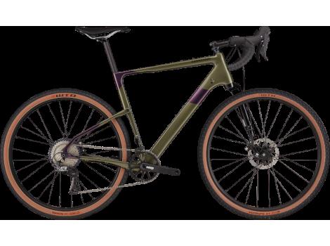 Vélo Gravel Cannondale Topstone Carbon Lefty 3 Vert/Violet - 2021