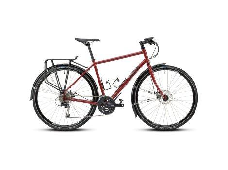 Vélo Gravel Tour de Fer 10 Cintre plat Rouge - 2021