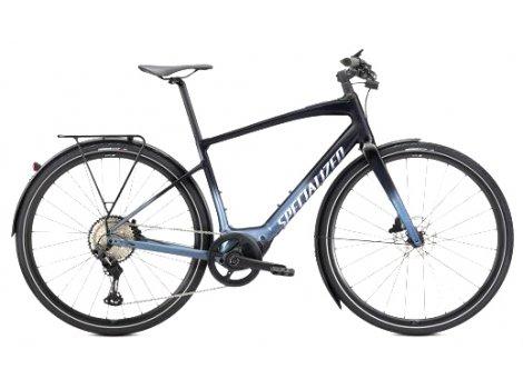 Vélo de ville électrique Specialized Vado SL 5.0 Equipe 320Wh Noir/Bleu - 2021
