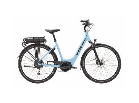 Vélo de ville électrique Trek Verve +2 Lowstep Bleu - 400Wh - 2021