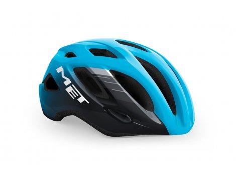 Casque Vélo de route MET Idolo Cyan/Noir brillant -2021