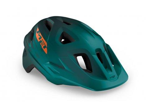 Casque VTT MET Echo Vert alpine/Orange mat - 2021