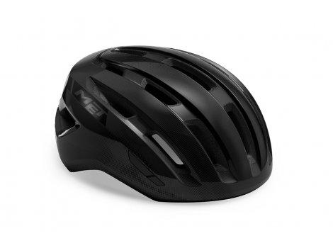 Casque Vélo de route MET Miles Noir brillant - 2021