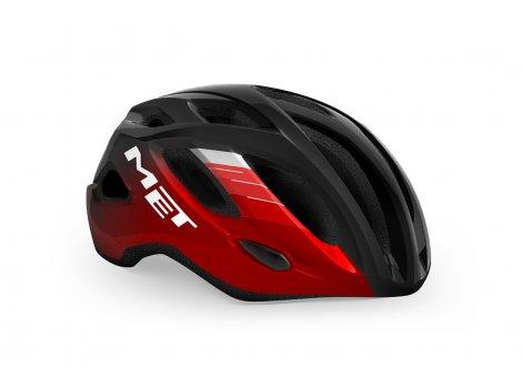 Casque Vélo de route MET Idolo Noir/Rouge métallisé brillant -2021