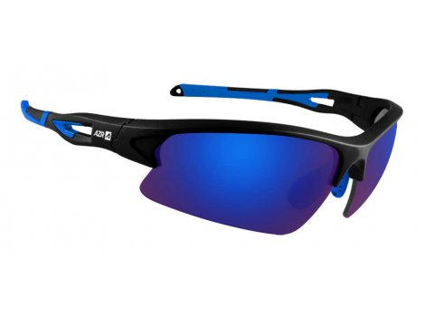 Lunettes vélo AZR HuezNoir mat/Bleu - Ecran Bleu - 3755