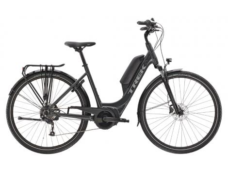 Vélo de ville électrique Trek Verve+ 1 Lowstep DT Gris - 2021 [En cours]