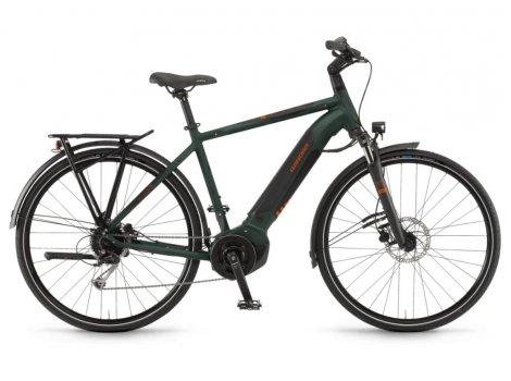 Vélo de ville électrique Winora Yucatan i9 olive 500 Wh - 2020