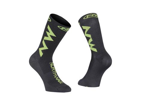 Chaussettes vélo été Northwave Extreme Air Noir/Fluo - 2021