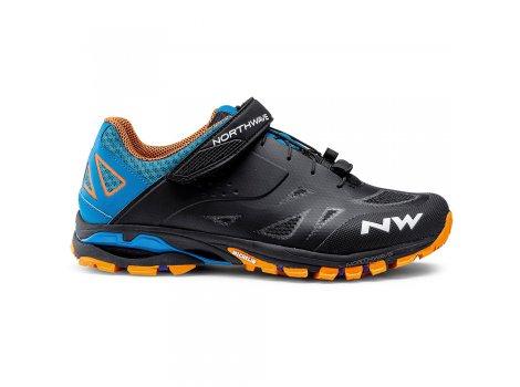 Chaussures VTT Northwave Spider 2 Noir/Bleu/Orange - 2021