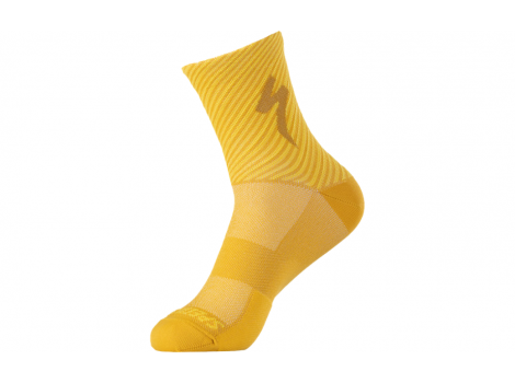 Chaussettes Specialized SOFT AIR ROAD Jaune rayé - 2021