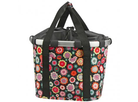 Panier textile Klickfix BikebasketHappy Flowers 15 l - K0303HF