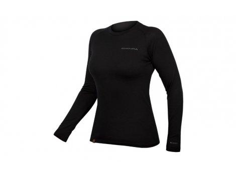 Sous-maillot manches longues Femme ENDURA Baabaa Noir - 2021
