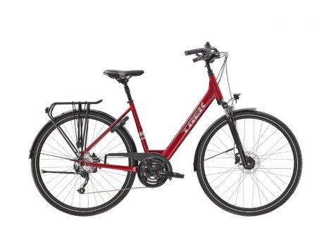 Vélo de ville électrique Trek Verve 2 Equiped Rouge - 2021