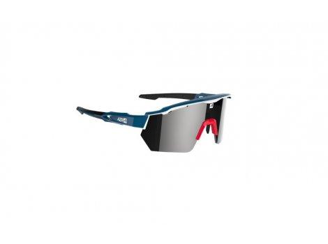 Lunettes Vélo AZR Race RX Bleu/Blanc/Rouge - Ecran Miroir gris