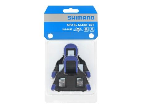 Cales pédales automatiques Shimano SPD-SL SM-SH12 Bleu - Y40B98140