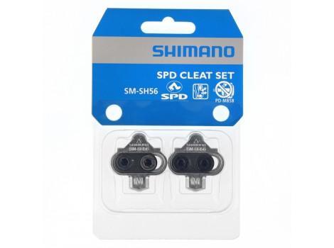 Cales pédales automatiques Shimano SPD SM-SH56 Argent sans plaque - Y41S98100