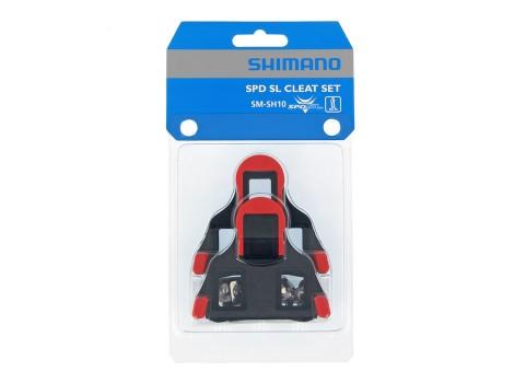 Cales pédales automatiques Shimano SPD-SL SM-SH10 Rouge - Y42U98020