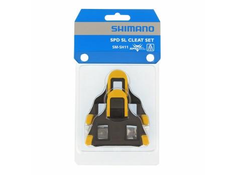 Cales pédales automatiques Shimano SPD-SL SM-SH11 Jaune - Y42U98010