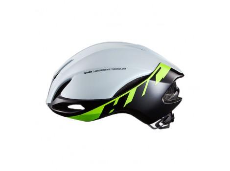 Casque vélo HJC FURION Blanc vert Glossy