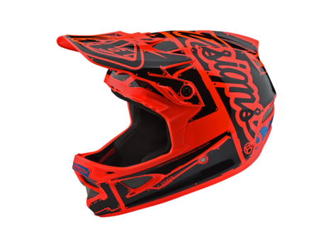 Casque Troy Lee Design intégral D3 FIberlite Factory Orange