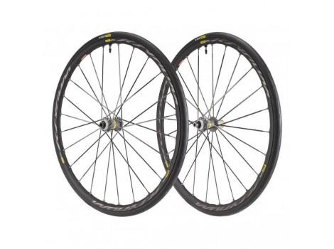 Paire de Roues Vélo Route Mavic Ksyrium Elite Disc UST avec Pneus