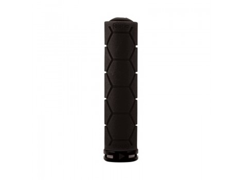 Poignée VTT Fabric Silicone Lock-on grip - Noir