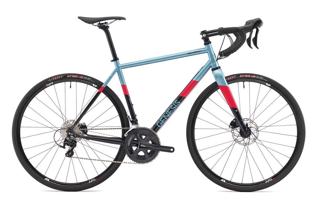 Vélo de route acier Genesis Equilibrium Disc 20 Bleu - 2019