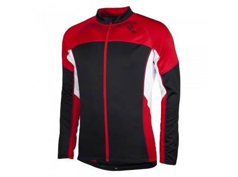 Maillot Hiver Rogelli LS Recco Noir/Rouge/Blanc