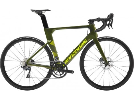 "Vélo Route Cannondale SuperSix Carbon Ultegra 28"" vert Vulcan Green - 2019"