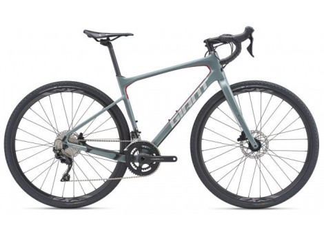Vélo gravel Giant Revolt Advanced 2 gris métal - 2019
