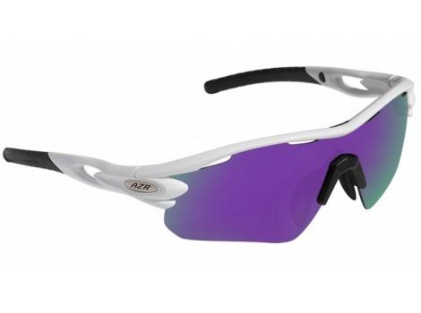 Lunettes vélo AZR Tour RX Blanches verres violet Catégorie 3 - 3389