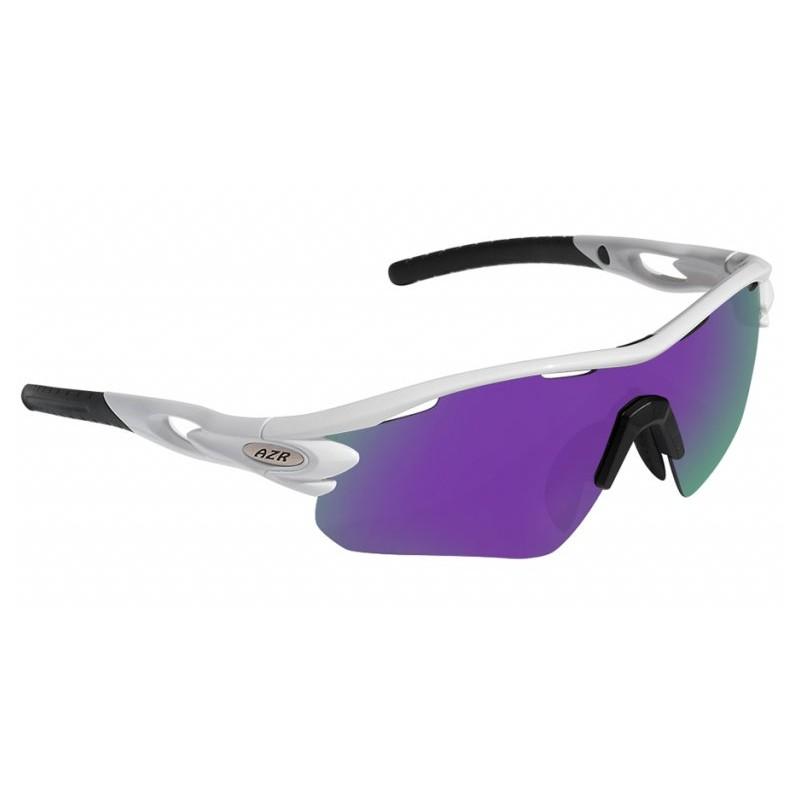 Lunettes vélo AZR Tour RX Blanches verres violet Catégorie 3 - 3389.  Loading zoom 39416c83c218