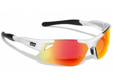 Lunettes vélo AZR Speed blanc verres orange Catégorie 3 - 3047