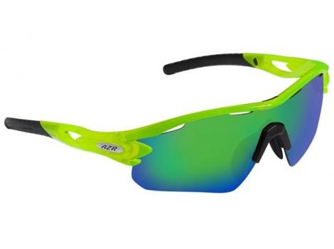Lunettes vélo AZR Tour RX vert fluo Catégorie 3 - 3394