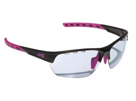 Lunettes vélo Femme AZR Kromic Izoard Noir/rose verre gris Catégorie 0 à 3 - 3633