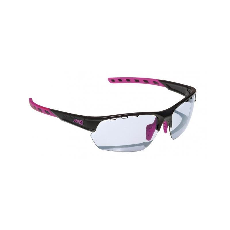 d97a75c25af31 Lunettes vélo Femme AZR Kromic Izoard Noir/rose verre gris Catégorie 0 à 3  -. Loading zoom