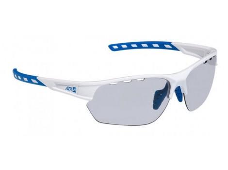 Lunettes vélo AZR Kromic Izoard Blanches/Bleu verres gris Catégorie 0-3 - 3607