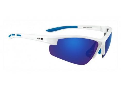 Lunettes vélo AZR Riders Blanches verres bleu Catégorie 3 - 3515