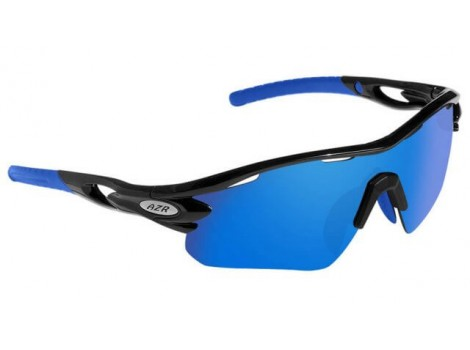Lunettes vélo AZR Tour RX Noires Verres Bleu Catégorie 3 - 3385