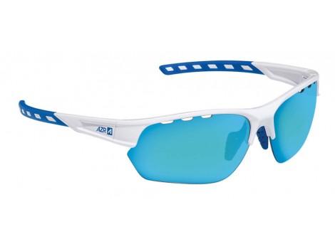 Lunettes vélo AZR Izoard Blanches verres bleus Catégorie 3 - 3605