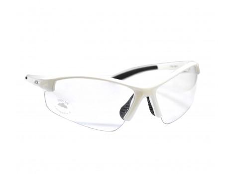 Lunettes vélo AZR Riders Blanches verres transparents - 3515