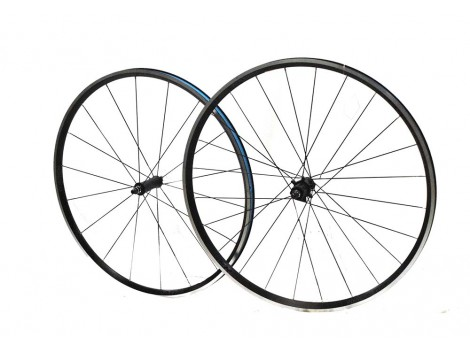 "Paire de roues vélo route Bontrager Paradigm Comp 28"" Axe Av 9x100 - Axe AR 9 x 135"