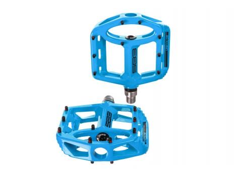 Pédales plates SB3 Unicolor Alu - Bleu